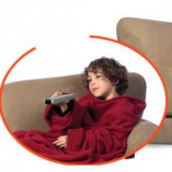 Couverture à manches polaire rouge pour enfant