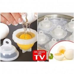Cuire vos oeufs durs sans coquille ( Lot de 6) + 1 séparateur d'œufs