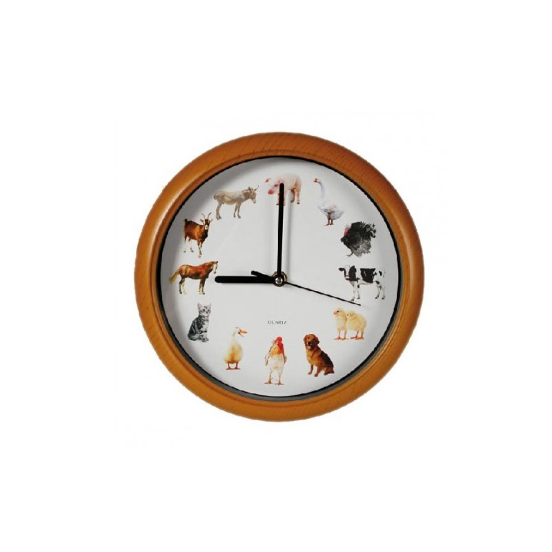 horloge pendule murale avec m lodie des animaux tendance plus. Black Bedroom Furniture Sets. Home Design Ideas