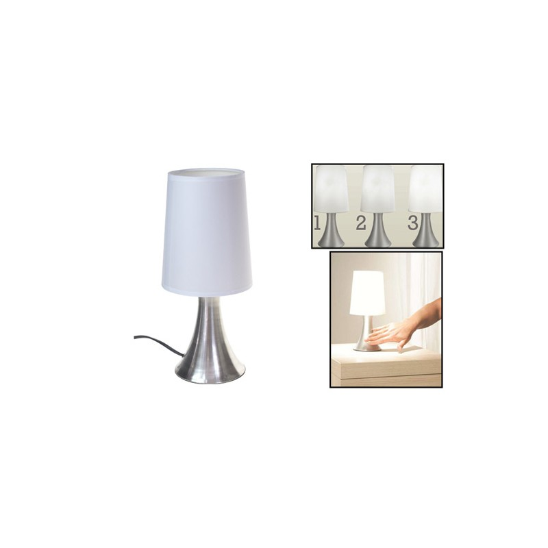 lampe de chevet tactile touch turin tendance plus. Black Bedroom Furniture Sets. Home Design Ideas