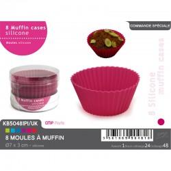 8 moules à muffins en silicone