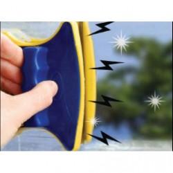 Raclette lave vitre magnétique double aimantée