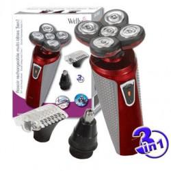 Rasoir rechargeable multi-têtes 3 en 1