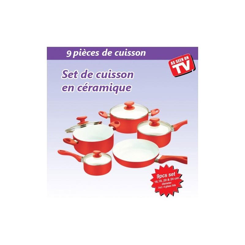 set cuisson en c ramique 8 pi ces rouge tendance plus On articles de cuisson