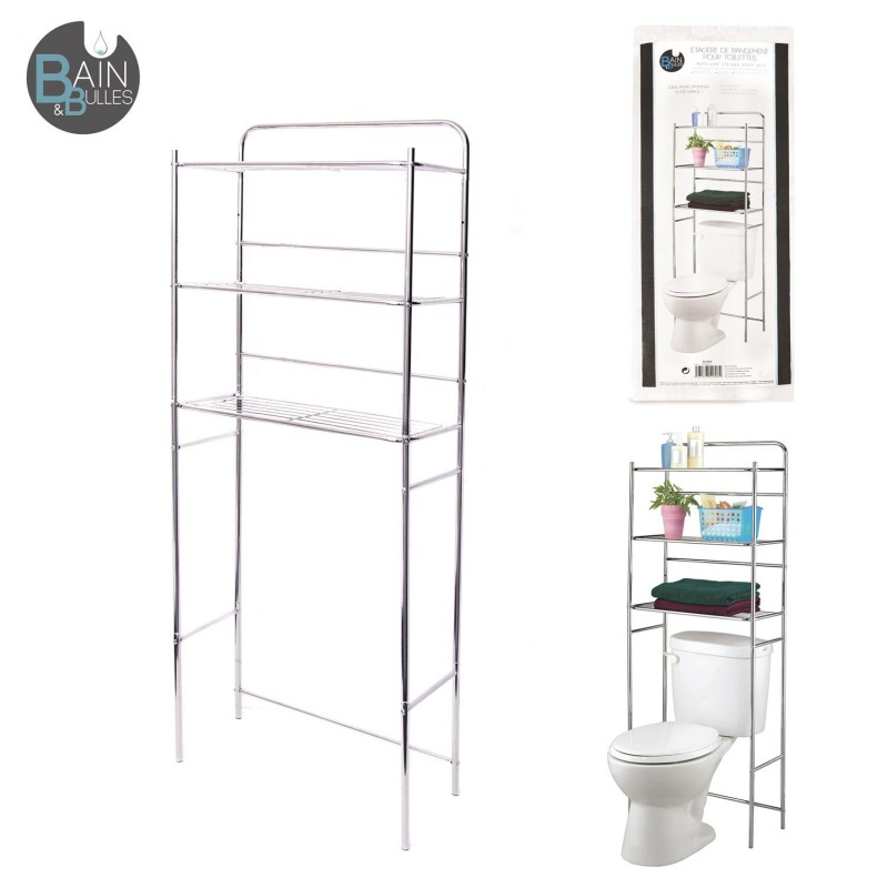 meuble etagere wc great meuble de rangement toilettes. Black Bedroom Furniture Sets. Home Design Ideas