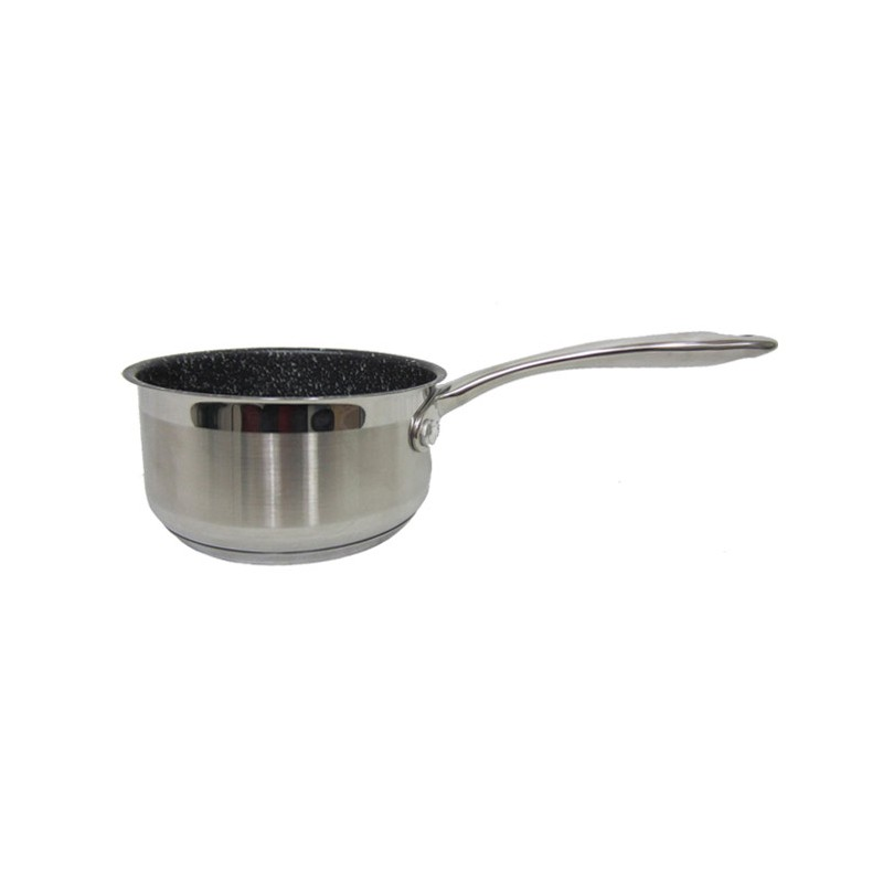 Casserole finition pierre 20 cm rev tement ext rieur en for Revetement cuisine inox