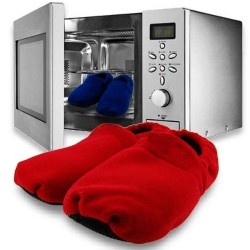 Chaussons chauffants au micro ondes rouges taille 36/40