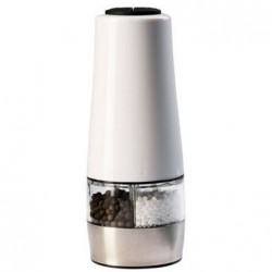 Double moulin électrique sel et poivre blanc