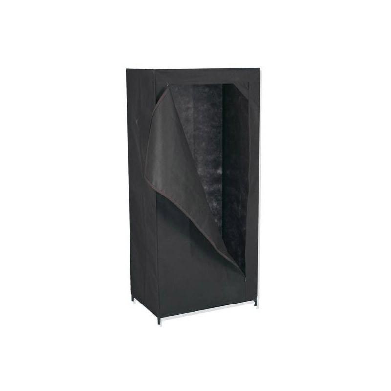 armoire de rangement avec penderie en toile non tiss e tendance plus. Black Bedroom Furniture Sets. Home Design Ideas