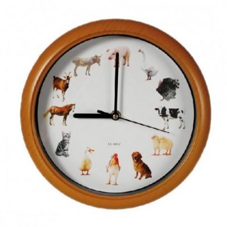 horloge pendule murale avec m lodie des animaux tendance plus. Black Bedroom Furniture Sets. Home Design Ideas