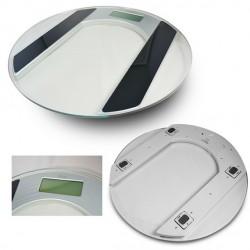 Pèse personne en verre électronique rond