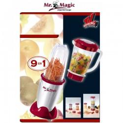 Robot Bullet Mr Magic Royal rouge/argenté avec tous les accessoires