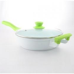 Sauteuse en céramique 24 cm + couvercle - Secret de gourmet