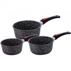 Série de 3 casseroles effet pierre 20-18-16 cm Kaiser