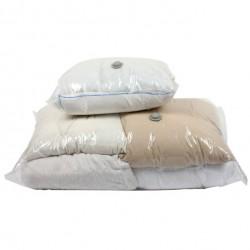 Set de 2 housses de rangement sous vide pour couettes, couvertures et oreillers