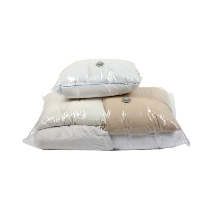 set de 2 housses de rangement sous vide pour couettes couvertures et oreillers tendance plus. Black Bedroom Furniture Sets. Home Design Ideas