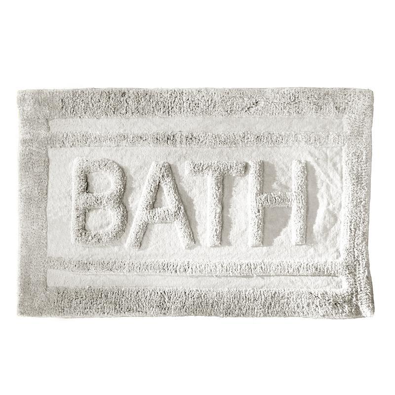 tapis de salle de bain bath blanc 80 x 50 cm tendance plus. Black Bedroom Furniture Sets. Home Design Ideas