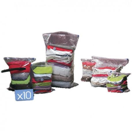 Lot 10 sacs de rangement sous vide