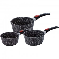 Lot de 3 casseroles effet pierre 20-18-16 cm Kaiser