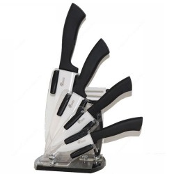 Bloc design 4 couteaux céramique + 1 éplucheur en céramique