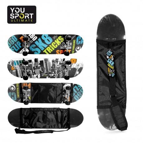 Skateboard grand modèle + sac de transport