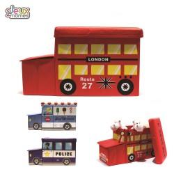 Coffre de rangement jouets Bus