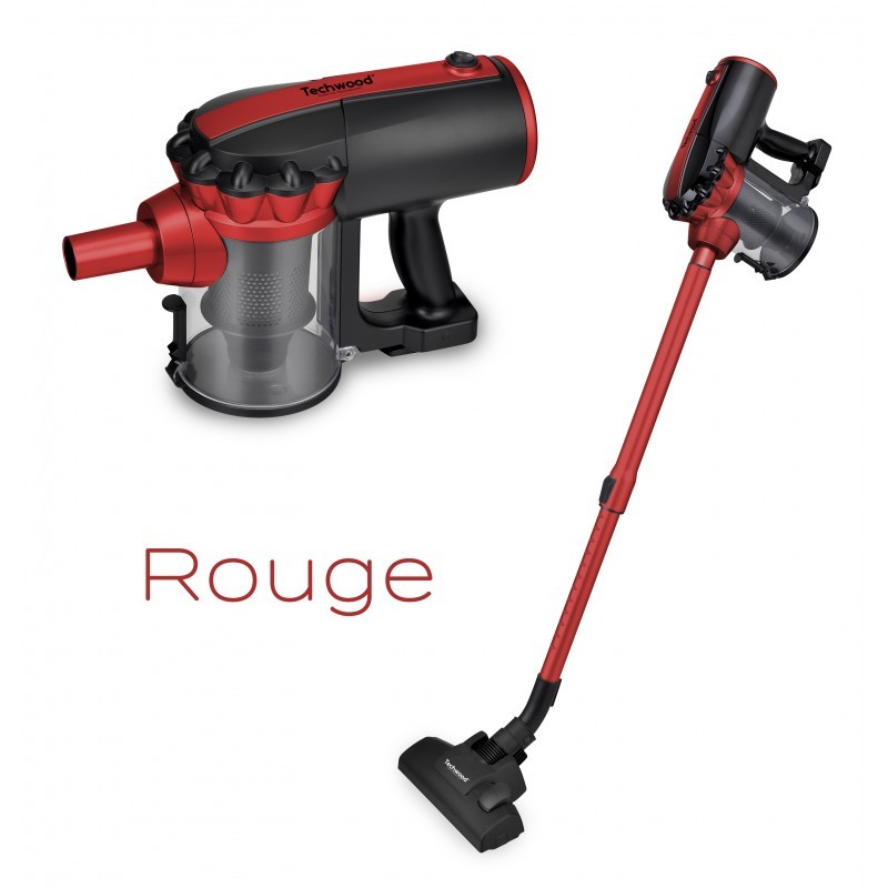 aspirateur balai main 600w noir rouge techwood tendance plus. Black Bedroom Furniture Sets. Home Design Ideas