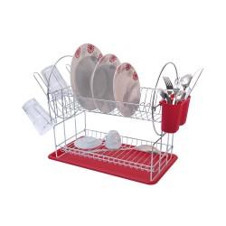 Egouttoir à vaisselle en métal 2 étages
