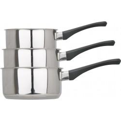 Série 3 casseroles inox/Bakélite