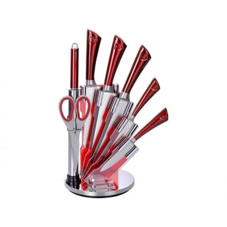 Bloc couteaux 8 pièces avec support tournant