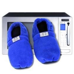 Chaussons chauffants au micro ondes bleus taille 36/40