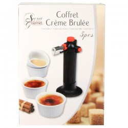 Coffret crème brûlée + 4 ramequins